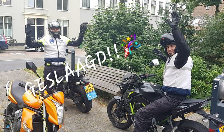 Goed gedaan Peter Zachaj en Thomas van Duin. MOTORRIJBEWIJS is binnen!!🎉🎊🎈Vele veilige kilometers!!🏍💨💨